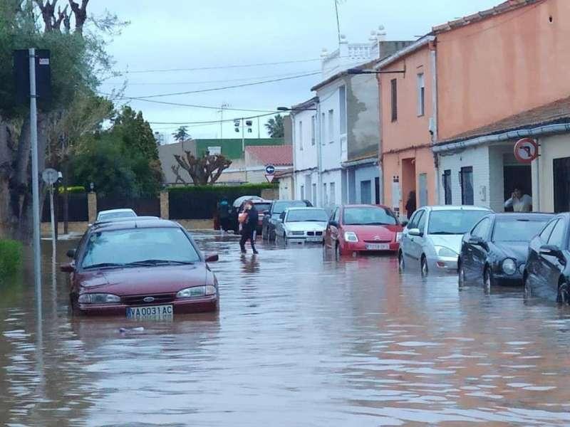 Lluvias de abril en Burriana