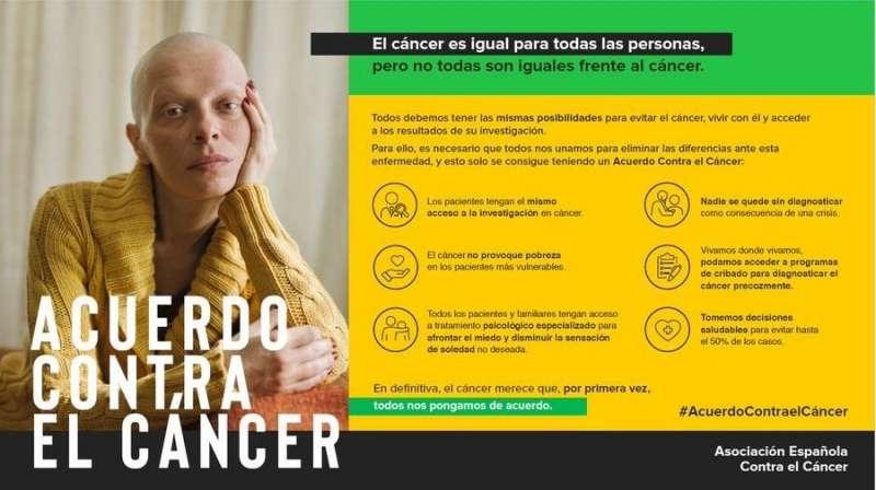 Campaña de la AECC, con motivo del Día mundial contra el cáncer.