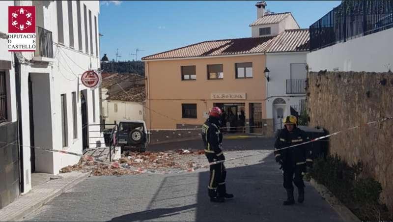 Los bomberos en Torás