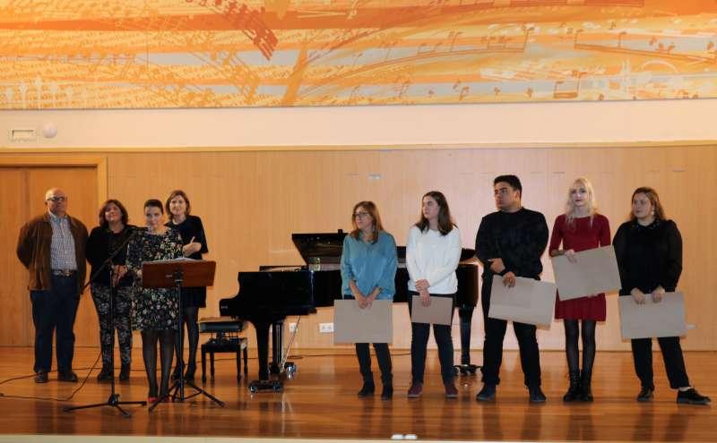 Acto de premiados en el Conservatori Profesional de Música de Torrent.