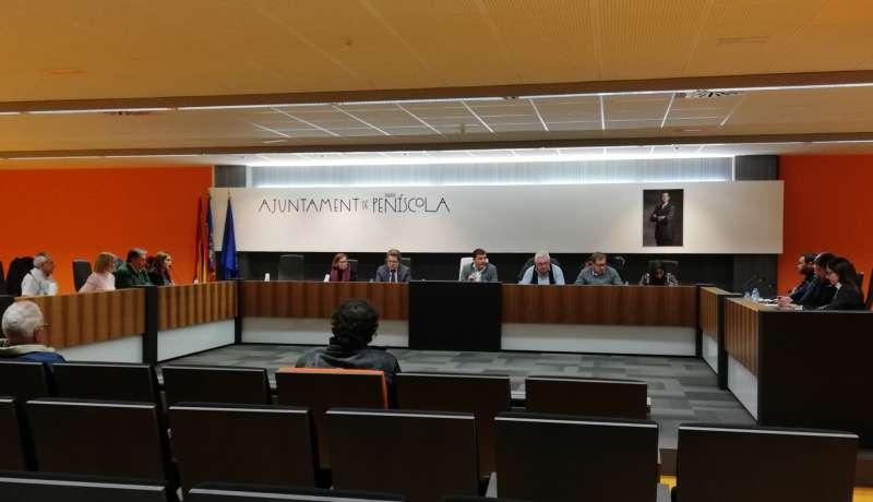 Pleno celebrado este jueves en el municipio de Peñíscola.