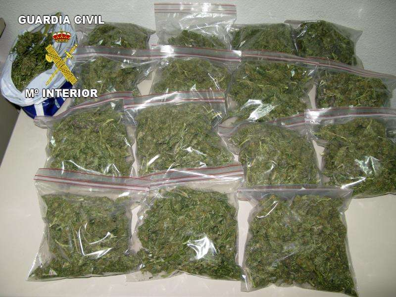 Bolsas de marihuana como las localizadas al hombre detenido en el aeropuerto de Alicante. EFE/Archivo