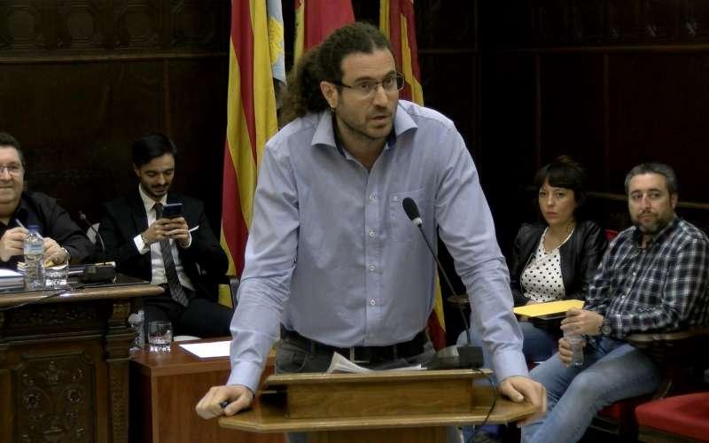 Guillermo Sampedro, portavoz de EU. EPDA