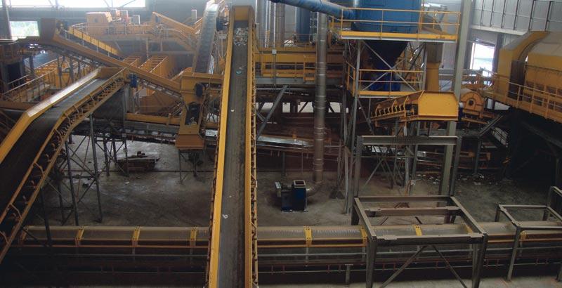 Interior de la Planta de Residuos de Algímia d