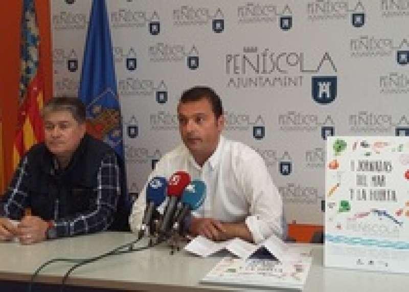El alcalde de Peñíscola en la presentación de la primera edición de las Jornadas Gastronómicas a finales de mayo.