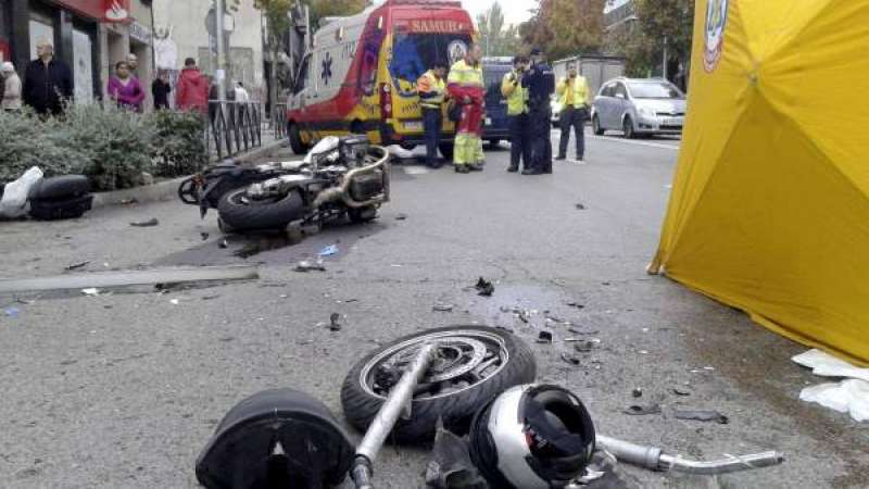 Accidente de moto. EFE