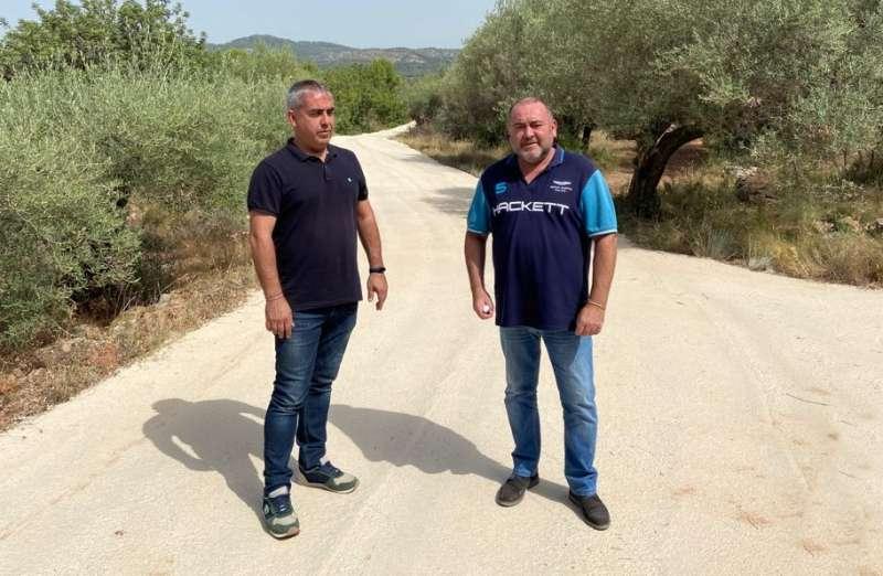 Vicente Pallarés, y el concejal Eduardo Barberá. EPDA