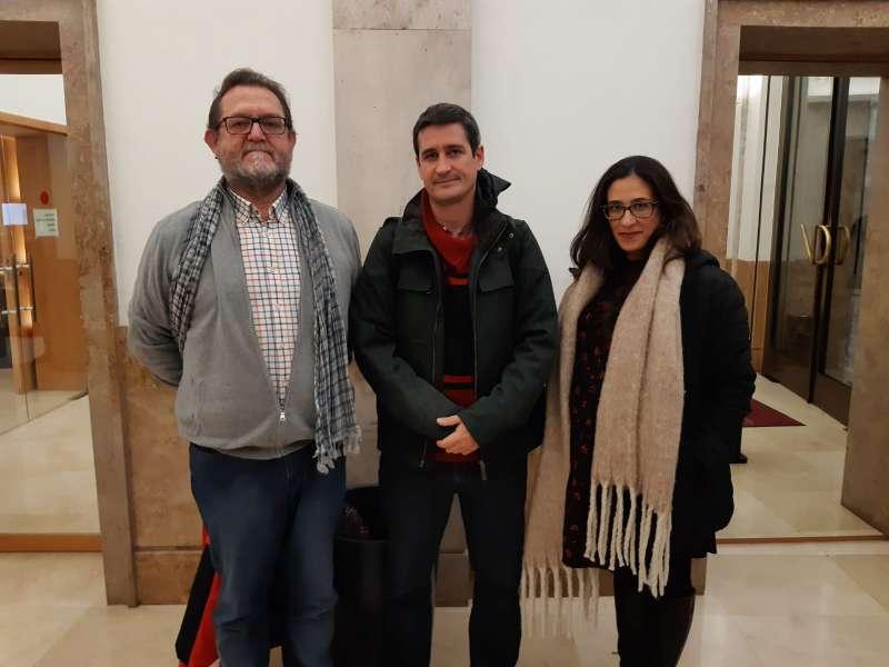 Emili Marmaneu, President de FEVAFA, Dr.Juan Vázquez, neurólogo y Raquel Amigó,Coordinadora del Biobanco La Fe