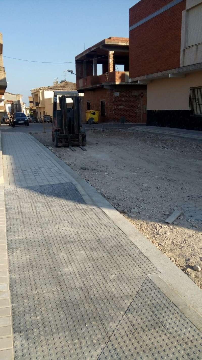 Una de las calles que están en obras