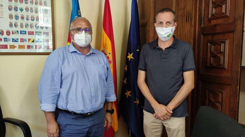 Julio Huerta con Toni Such. EPDA