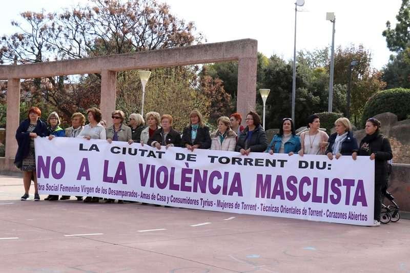 Acto contra la violencia machista. EPDA