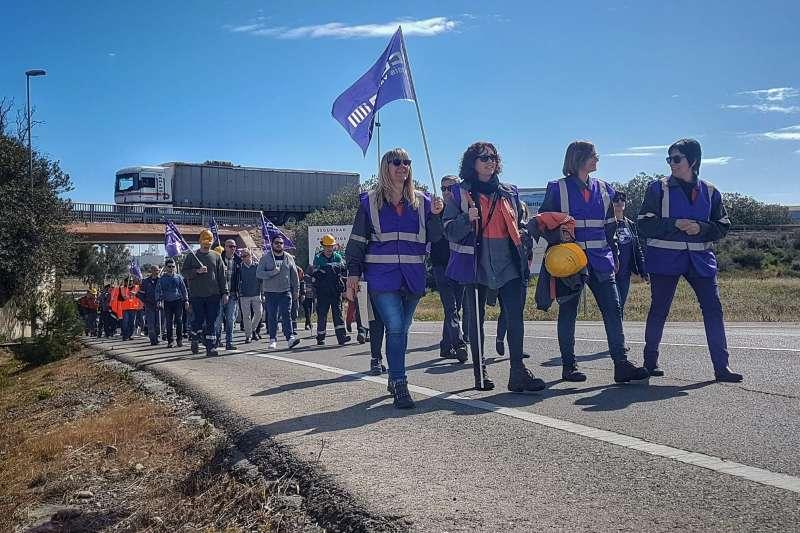 Imagen de la huelga feminista