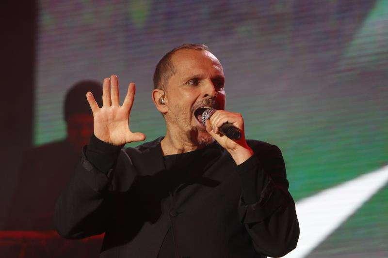 El cantante español Miguel Bosé durante un reciente concierto en Medellín (Colombia). Imagen de archivo.