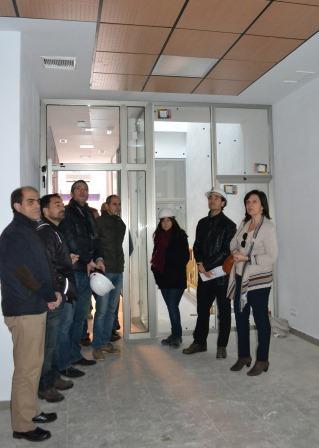 Visita de la alcaldesa de Quart de Poblet a la zona de obra. EPDA