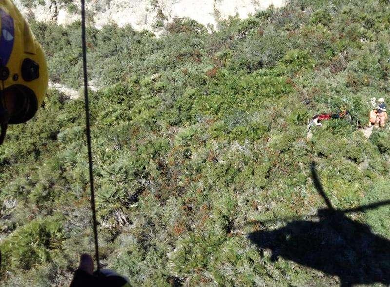 Imagen del rescate cedida por el consorcio provincial de bomberos. EFE
