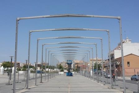 Arcos que componen la estructura principal de la gavia. FOTO: EPDA.