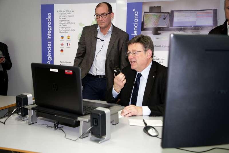 Felicitación del jefe del Consell a los equipos de emergencias por videoconferencia.