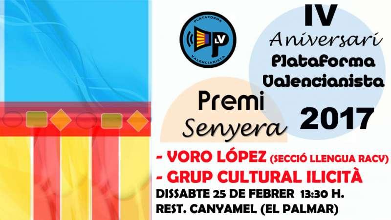 Cartel de la Plataforma Valencianista.