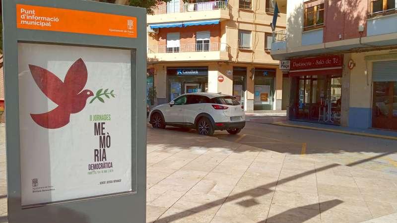Cartell de la campanya de Memòria Democràtica en Foios. EPDA