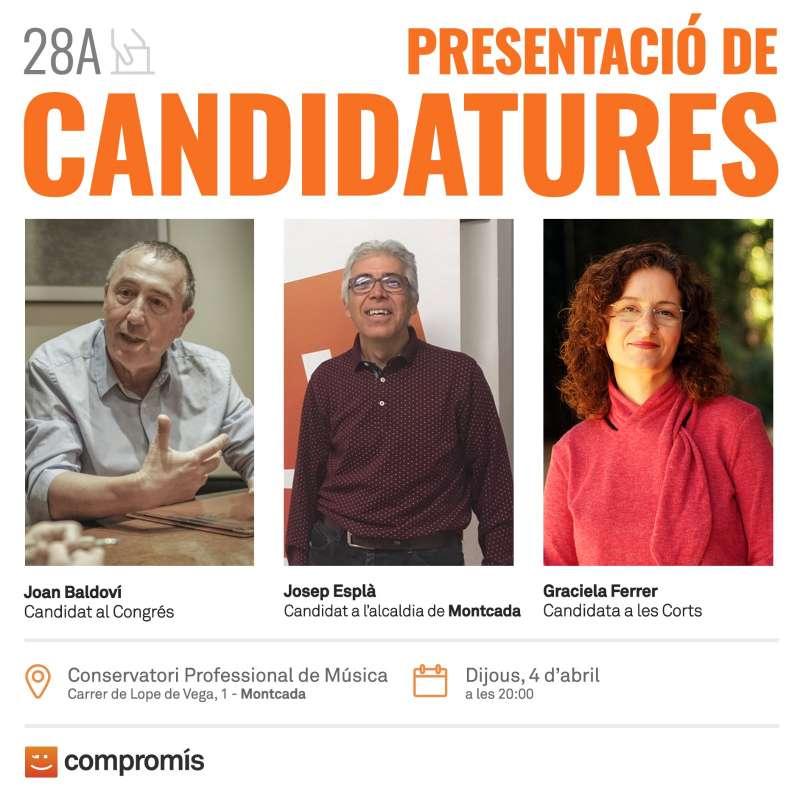Acte de la presentació de la candidatura de Compromís. EPDA