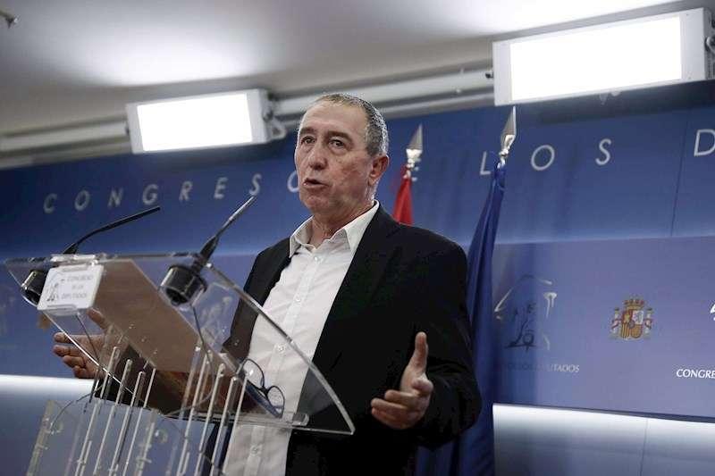 El diputado de Compromís, Joan Baldoví, durante la rueda de prensa. EFE/Archivo/Mariscal
