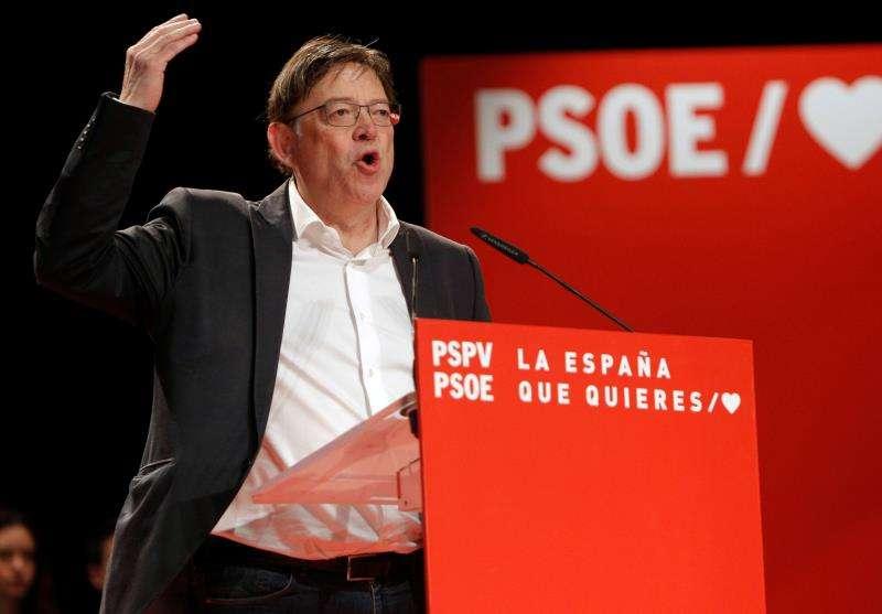 El líder del PSPV-PSOE y presidente de la Generalitat, Ximo Puig, en un acto político. EFE/Archivo