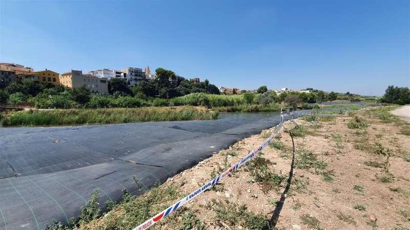Imagen de la actuación en la ribera del río Turia facilitada por el Ayuntamiento. EFE