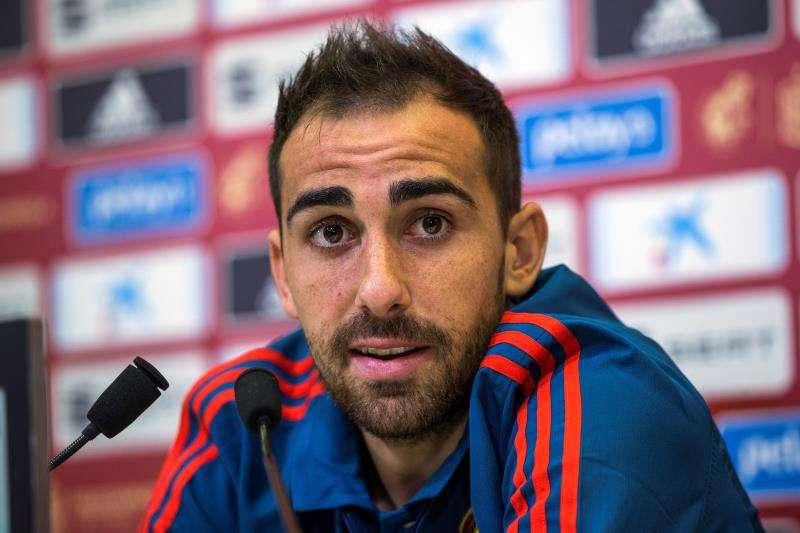 El delantero Paco Alcácer, en una convocatoria anterior de la selección nacional. EFE/Archivo