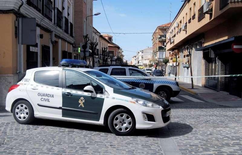 Presencia policial en el lugar de un suceso. EFE/Archivo