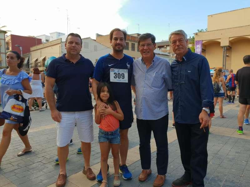Máximos representantes de la Coalición Som Valencians en Moviment en Almássera.