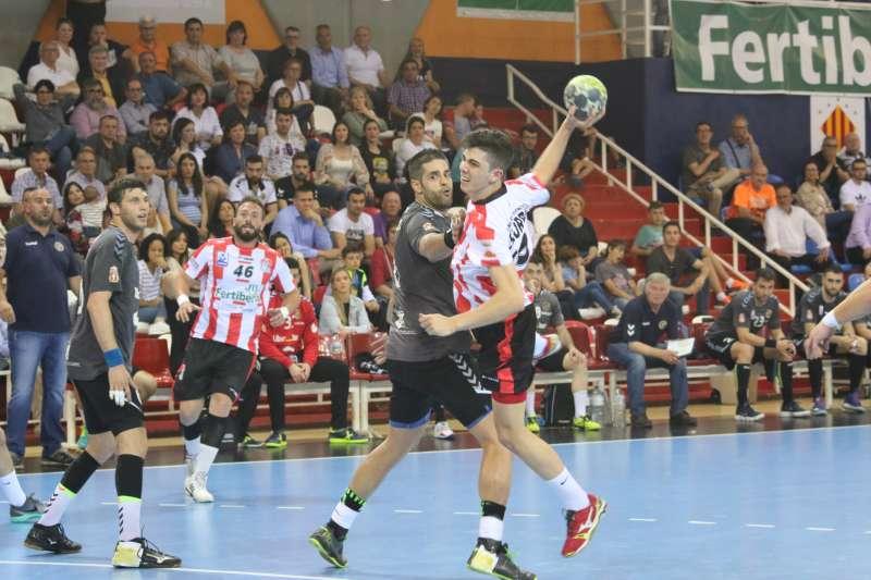 Jugada del último partido de Asobal jugado en el Ovni. EPDA