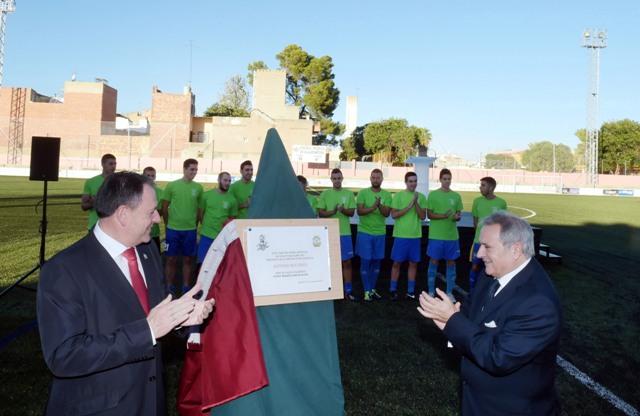 Inauguración campo de fútbol en Algemesí. FOTO: DIVAL