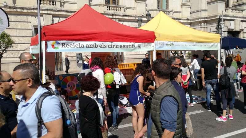 Un acto en la Plaza del Ayuntamiento de Valencia. FOTO EPDA