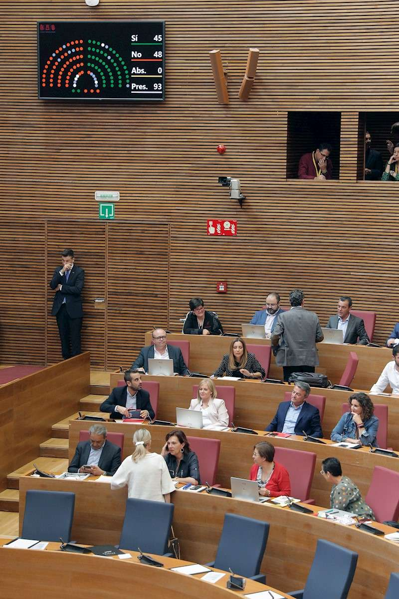 Imagen del pleno de Les Corts. EFE