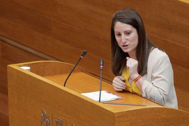 La portavoz de Vox en Les Corts, Ana Vega. EFE/Archivo