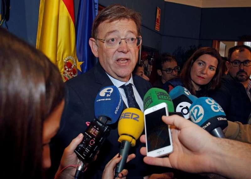 Ximo Puig, ha comparado hoy la infrafinanciación valenciana con el cambio climático. EFE/Morell