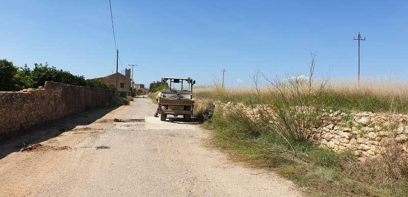 Obras en caminos y viales en la localidad de Quart de Poblet -EPDA