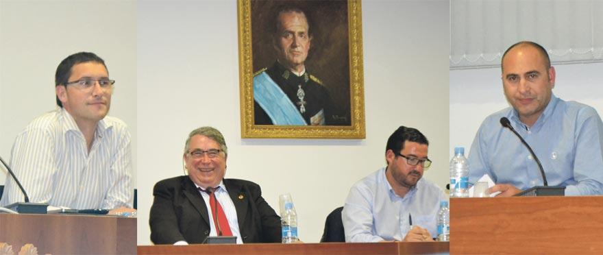 Carlos Julián, J. A. Sancho, el alcalde y Rafa Corresa. FOTO EPDA