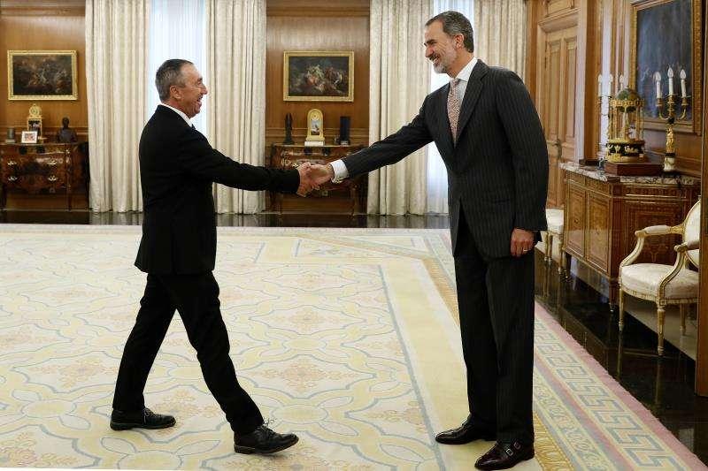 Baldoví y el Rey.  EFE/Mariscal
