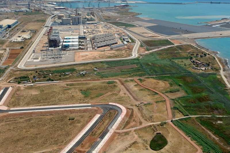 Vista panorámica del puerto de Sagunt y Parc Sagunt. EPDA