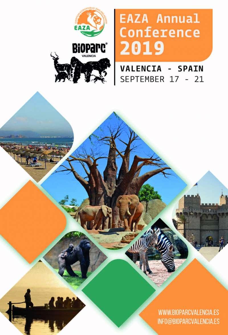 Cartel de la Conferencia Anual de EAZA en Bioparc València. EPDA