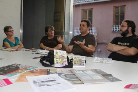 Centro Sancho en la tertulia. Foto EPDA