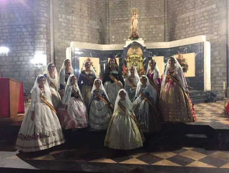 Las Fallas participan en las fiestas de Sagunt.