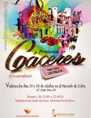 Cartel de las jornadas gastronómicas organizadas por la Diputación de Cáceres. Foto EPDA