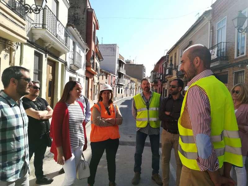 Visita de responsables provinciales y locales a la pedanía de Massarrojos. / epda