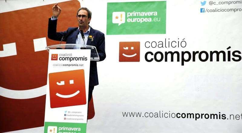 El cabeza de lista de Compromís per Europa/Compromiso por Europa, Jordi Sebastià. EFE/Archivo