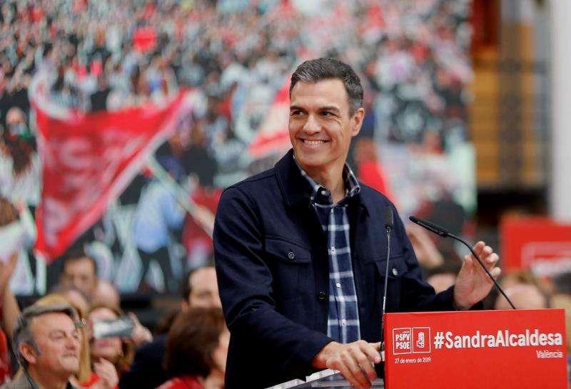 Pedro Sánchez, en València. EFE