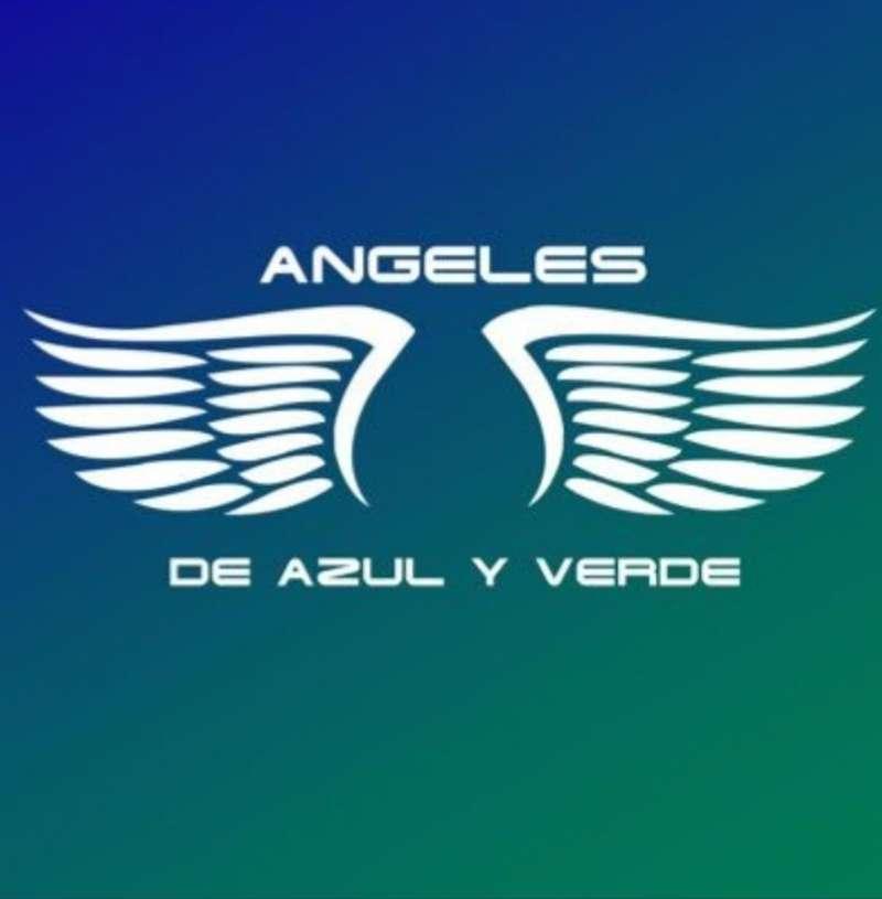 Logotipo que la asociación Ángeles de Azul y Verde publica en sus redes sociales.