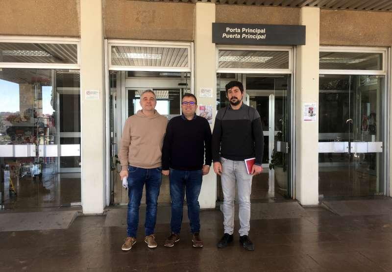 Paco Latorre con otros responsables de EU