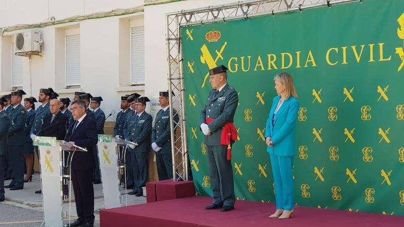 El delegado del Gobierno en la Comunitat Valenciana, Juan Carlos Fulgencio, en un momento de la celebración, en una imagen de la Delegación.